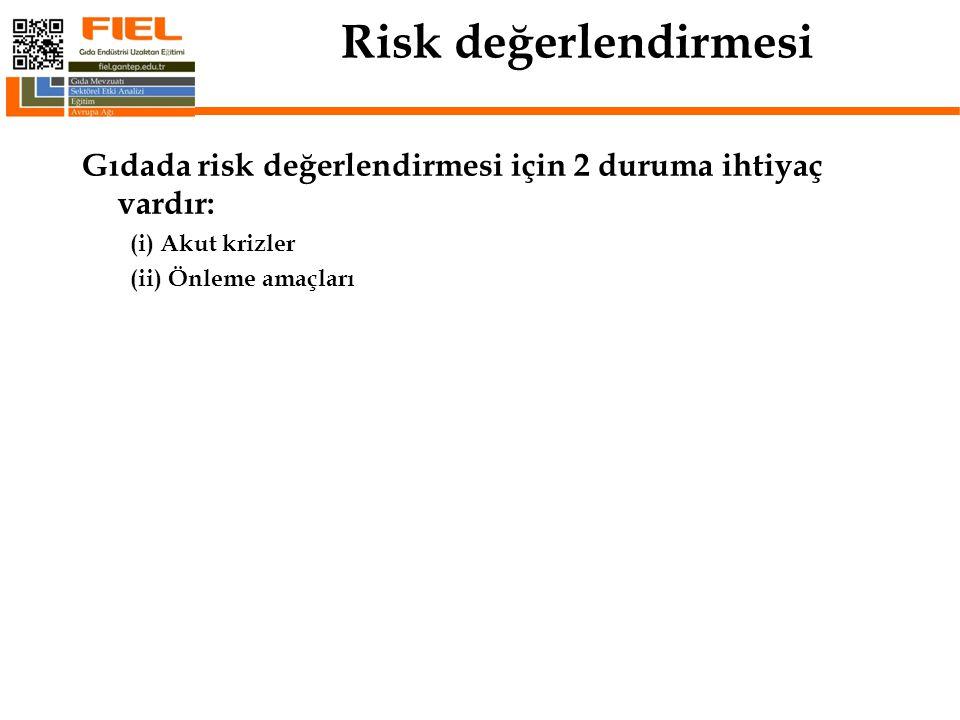 RİSK YÖNETİMİ  Risk Analizleri Risk Yönetimi ile beraber Risk Değerlendirmesi ve Risk İletişimi tarafından gerçekleştirilir.