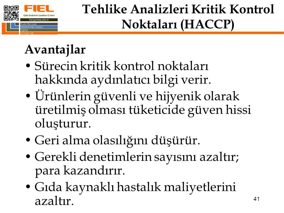 Tehlike Analizleri Kritik Kontrol Noktaları(HACCP) Sistemin Kurulumu: HACCP bilime dayalı bir sistemdir.