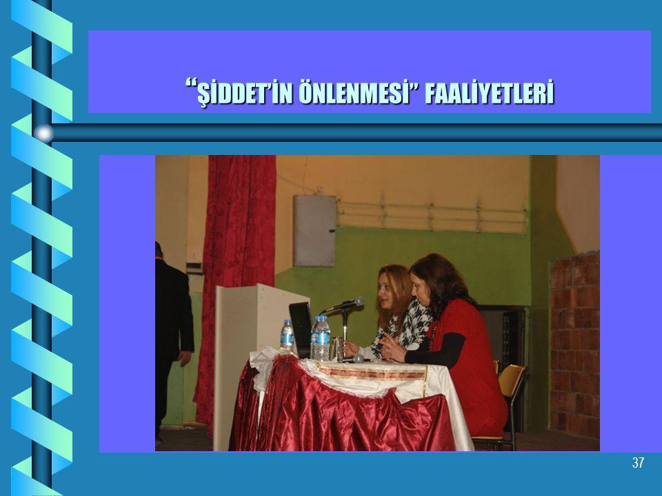 37 ŞİDDET'İN ÖNLENMESİ FAALİYETLERİ