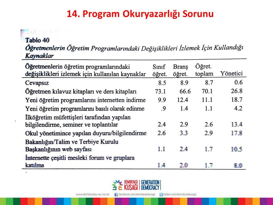 14. Program Okuryazarlığı Sorunu..