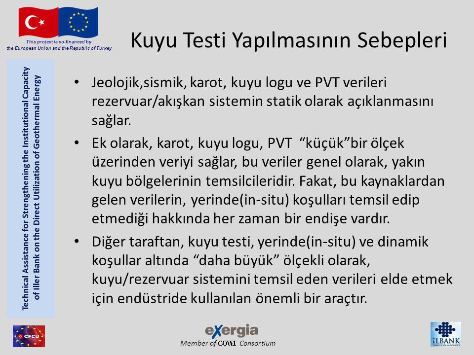 Member of Consortium This project is co-financed by the European Union and the Republic of Turkey Kuyu Testinin Amaçları Kuyu koşullarının değerlendirilmesi (Kuyu tamamlama, Kuyu içi depolama, zar(skin)).