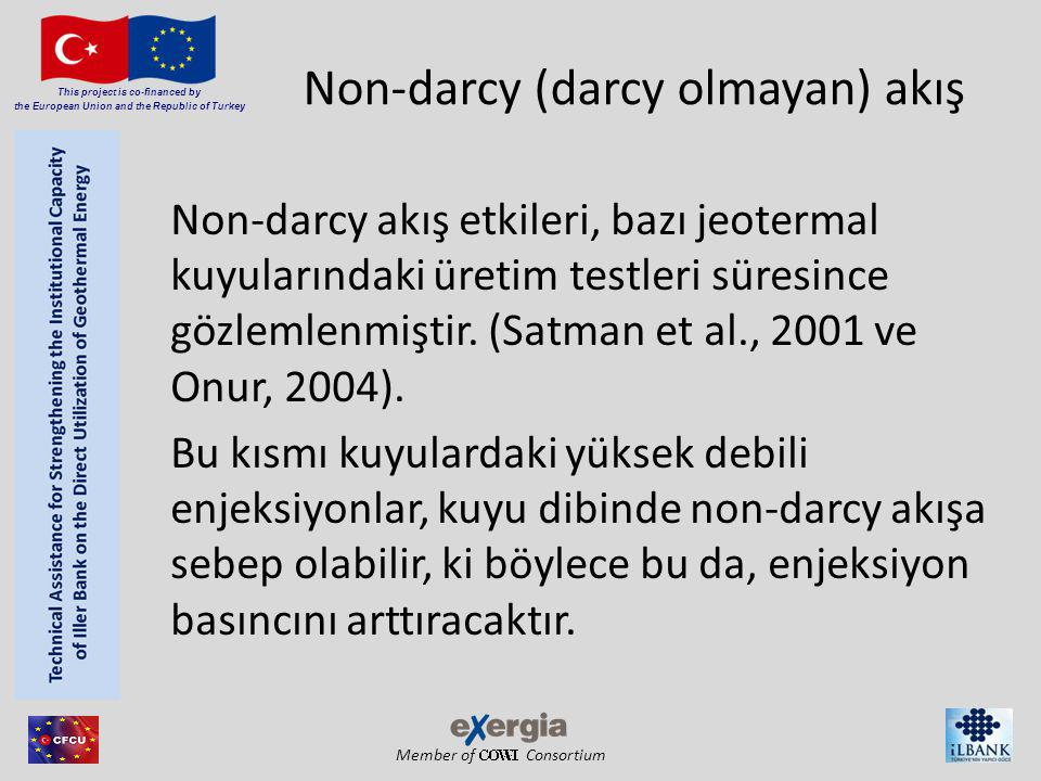 Member of Consortium This project is co-financed by the European Union and the Republic of Turkey Non-darcy (darcy olmayan) akış Non-darcy akış etkile