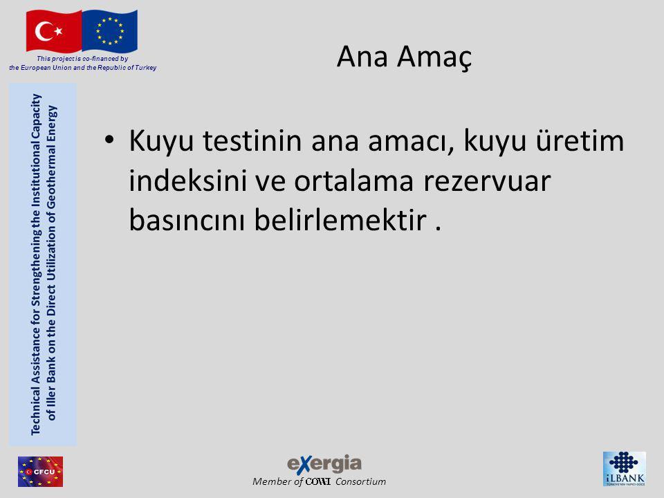 Member of Consortium This project is co-financed by the European Union and the Republic of Turkey Ana Amaç Kuyu testinin ana amacı, kuyu üretim indeks