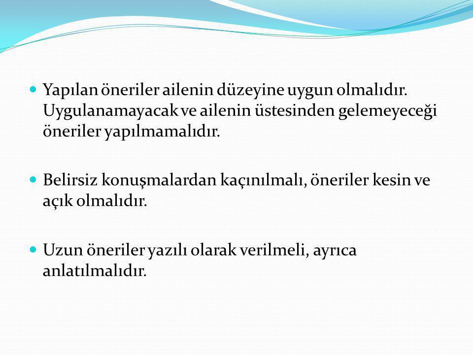 Sağlık Eğitimi Bebek bakımı Bebek bakımı ile bilgiler özellikle yenidoğan döneminde verilmelidir.