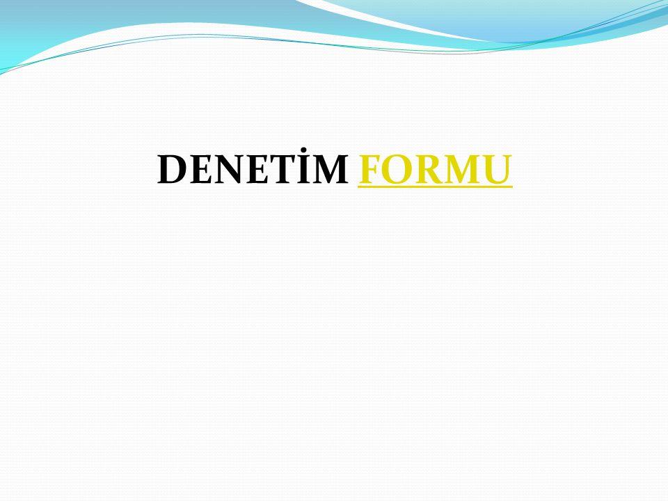 DENETİM FORMUFORMU