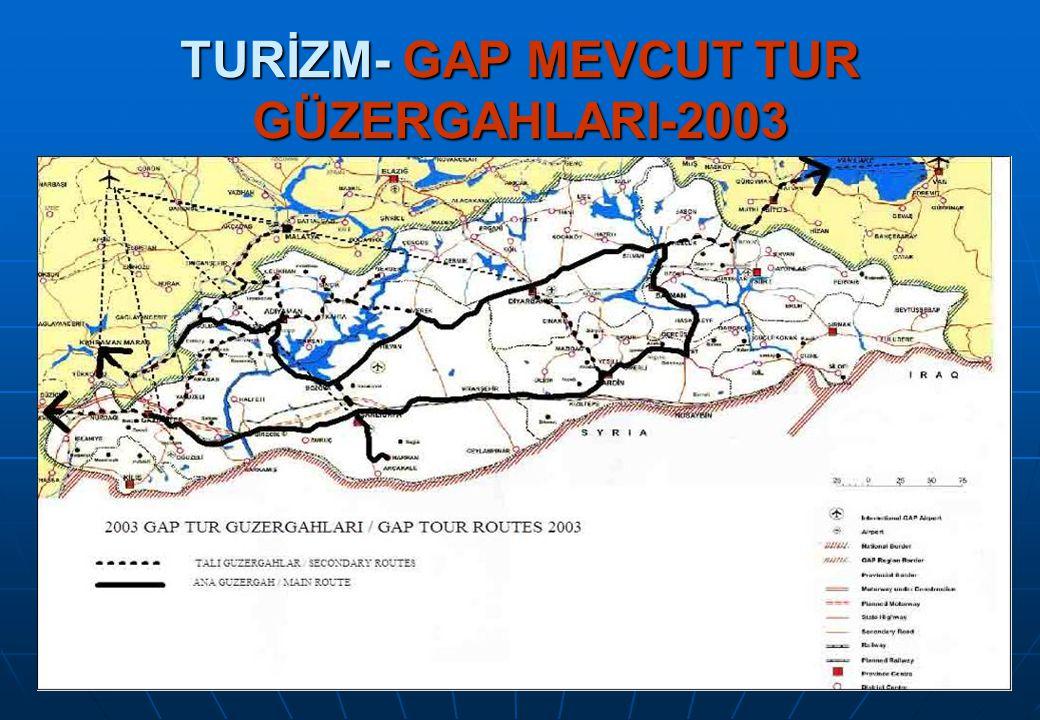 TURİZM- GAP MEVCUT TUR GÜZERGAHLARI-2003