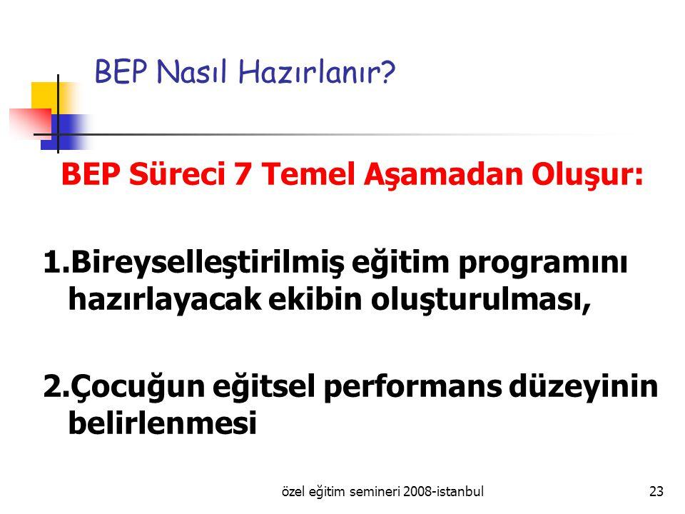 özel eğitim semineri 2008-istanbul23 BEP Nasıl Hazırlanır.