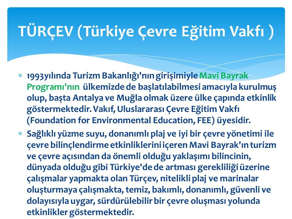  1993yılında Turizm Bakanlığı'nın girişimiyle Mavi Bayrak Programı'nın ülkemizde de başlatılabilmesi amacıyla kurulmuş olup, başta Antalya ve Muğla o