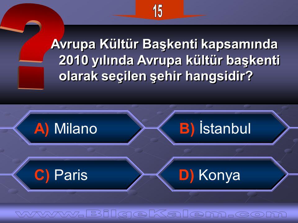 Avrupa Kültür Başkenti kapsamında 2010 yılında Avrupa kültür başkenti olarak seçilen şehir hangsidir.