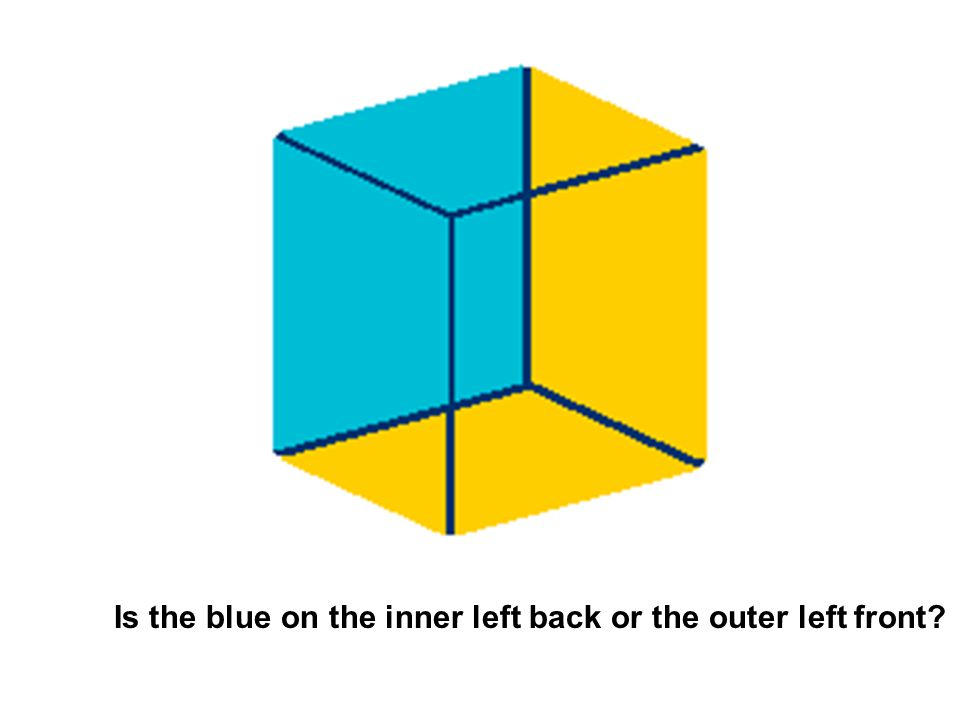 Do you see a cube missing a corner? Or do you see a small cube in a big one?