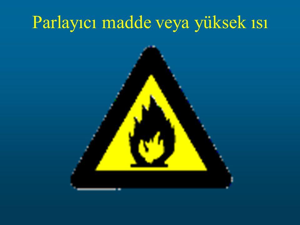 Parlayıcı madde veya yüksek ısı
