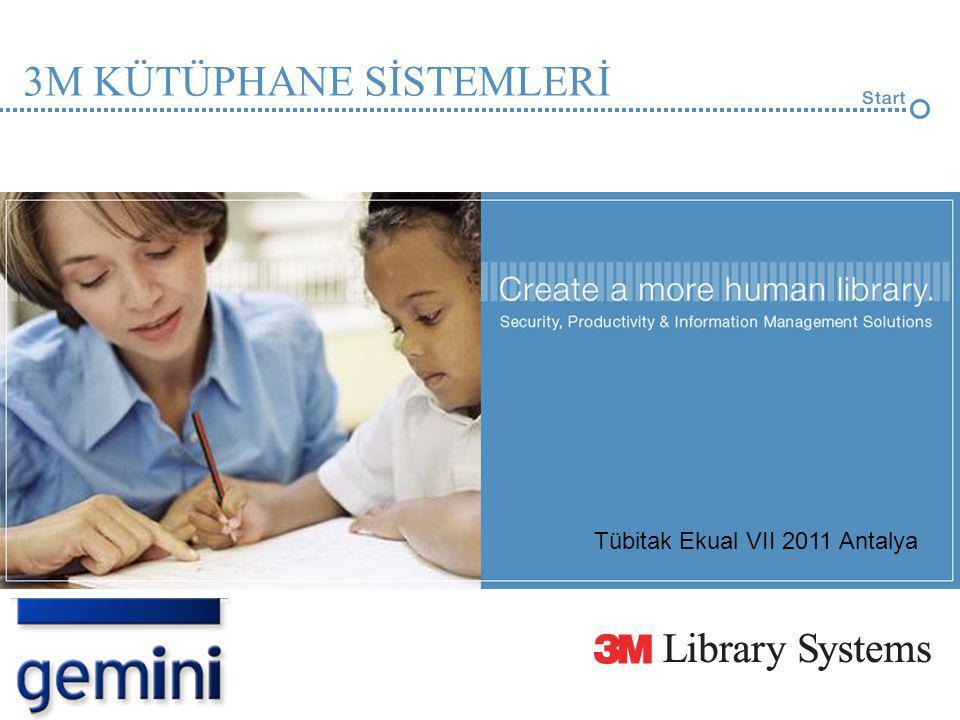3M KÜTÜPHANE SİSTEMLERİ Tübitak Ekual VII 2011 Antalya