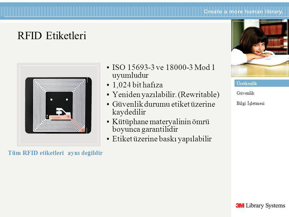 Üretkenlik Güvenlik Bilgi İşletmesi RFID Etiketleri ISO 15693-3 ve 18000-3 Mod 1 uyumludur 1,024 bit hafıza Yeniden yazılabilir.