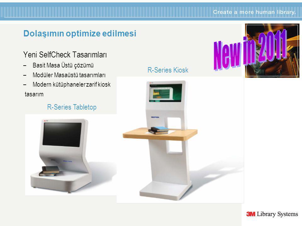 R-Series Tabletop Dolaşımın optimize edilmesi Yeni SelfCheck Tasarımları –Basit Masa Üstü çözümü –Modüler Masaüstü tasarımları –Modern kütüphaneler zarif kiosk tasarım R-Series Kiosk