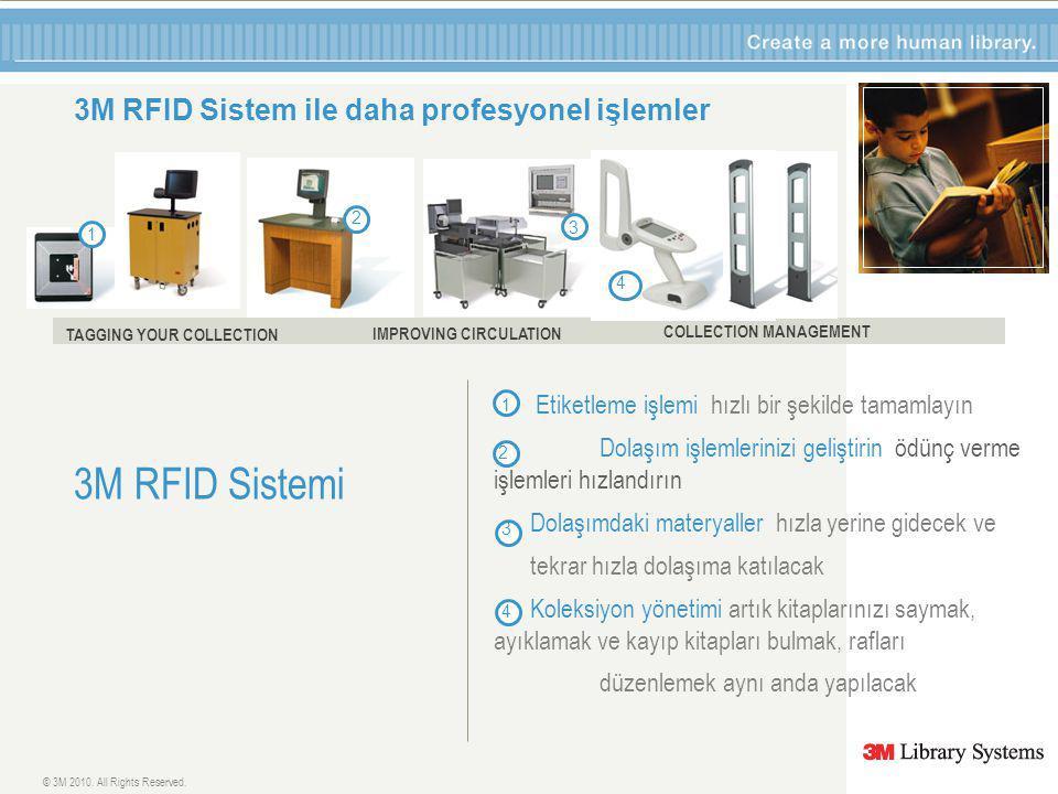 1 3M RFID Sistem ile daha profesyonel işlemler 3M RFID Sistemi © 3M 2010.