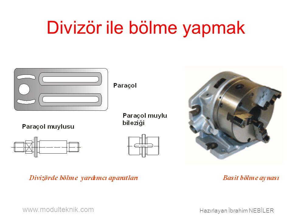 www.modulteknik.com Hazırlayan İbrahim NEBİLER Divizör ile bölme yapmak