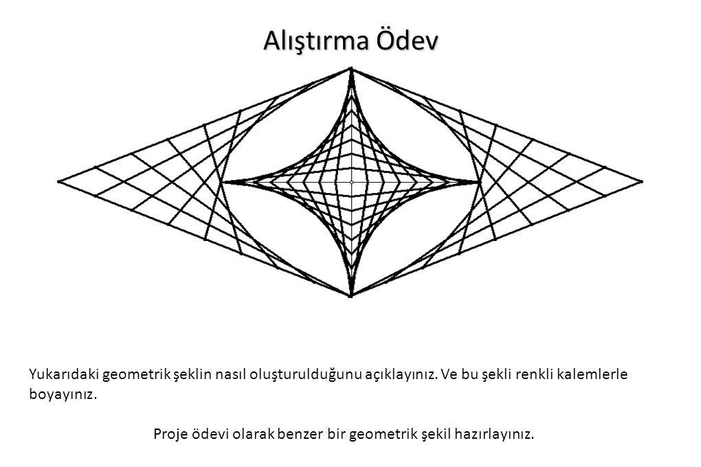 Alıştırma Ödev Yukarıdaki geometrik şeklin nasıl oluşturulduğunu açıklayınız.