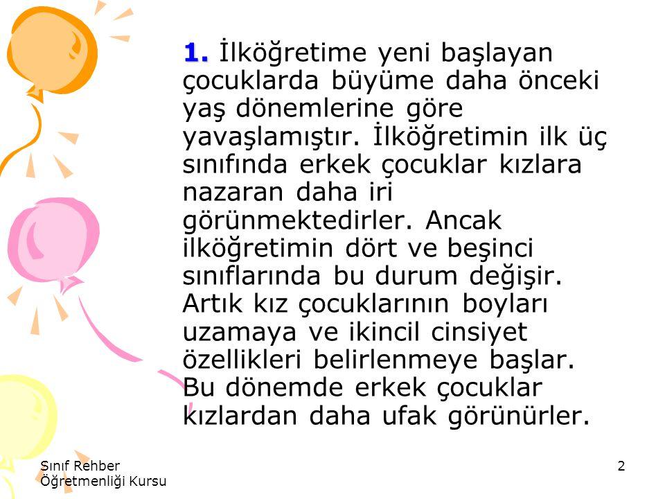 Sınıf Rehber Öğretmenliği Kursu 13 Kaynak Kaynak www.umraniye-ram.org