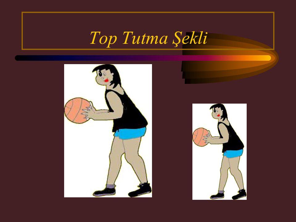 Top vücudun ön kısmına doğru çekilir. Öndeki ayak,top vücuda çekilirken aynı ritimle geriye alınır.