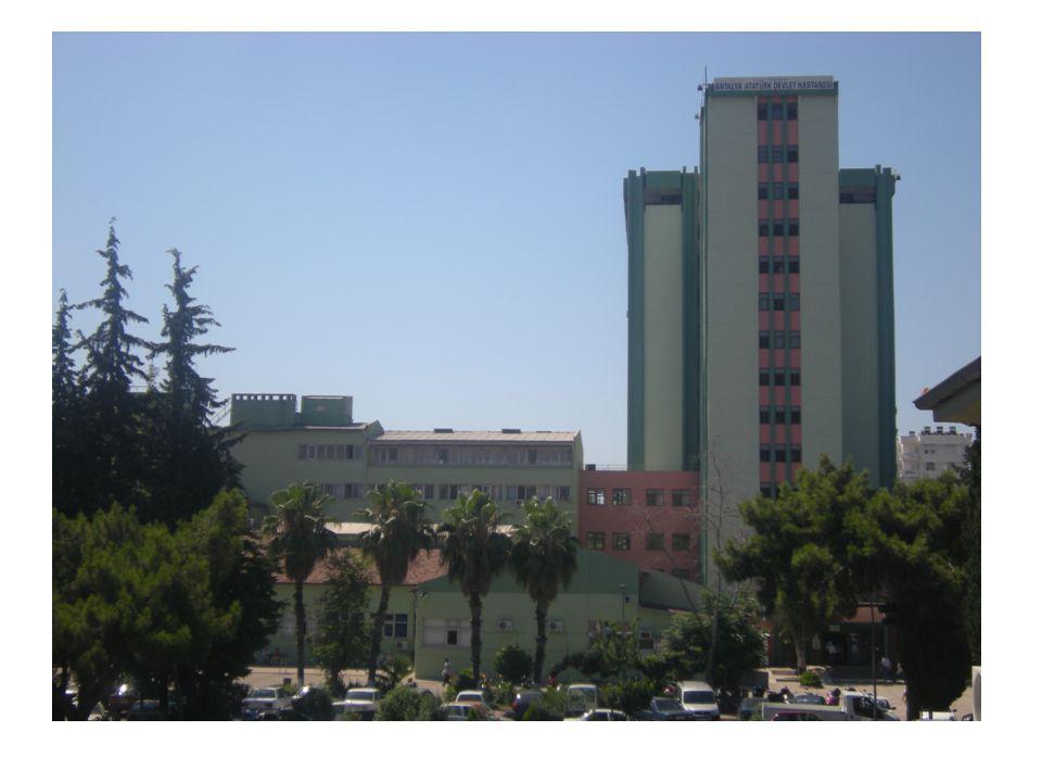 Antalya Atatürk Devlet Hastanesi'nin ; Arsa alanı 33.172 m²,kapalı alanı ise yaklaşık 30.000 m² dir.