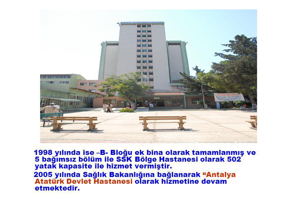 Hastanemiz Baştabipliğince 2009 yılında Deprem Güçlendirme projeleri ve prensip projeleri hazırlanarak onaylanmak ve uygulanması için izin almak üzere Sağlık Bakanlığı İnşaat Onarım Daire Başkanlığına gönderilmiştir.