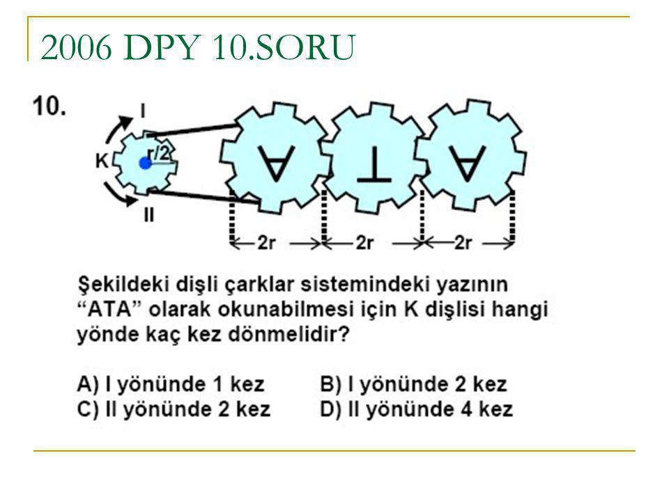2006 DPY 10.SORU