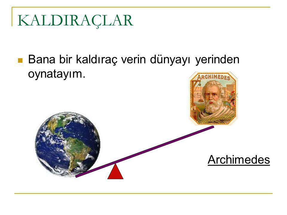 Bana bir kaldıraç verin dünyayı yerinden oynatayım. Archimedes