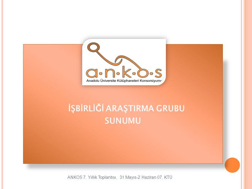 YÖK K ÜTÜPHANELERI / B ILGI M ERKEZLERI A RASI K AYNAK P AYLASIMI Kaynak Paylasımında Türkiye' de Durum Ne.