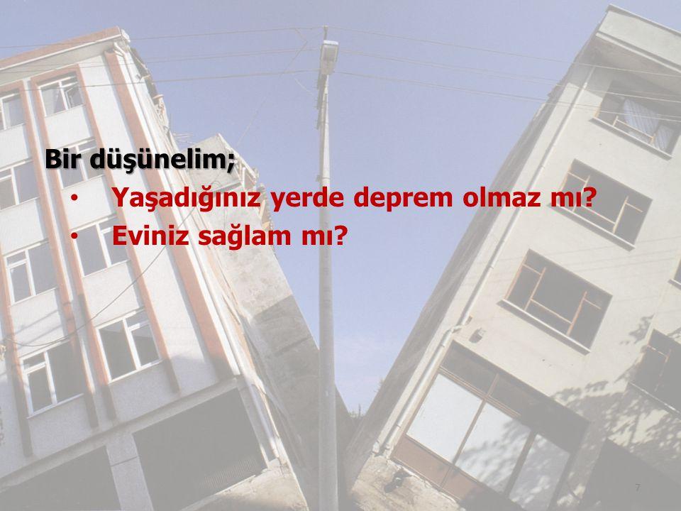 Bir düşünelim; Yaşadığınız yerde deprem olmaz mı? Eviniz sağlam mı? 7