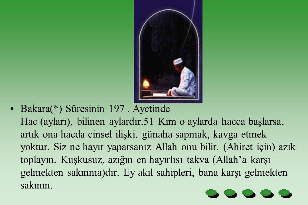 Bakara(*) Sûresinin 197.