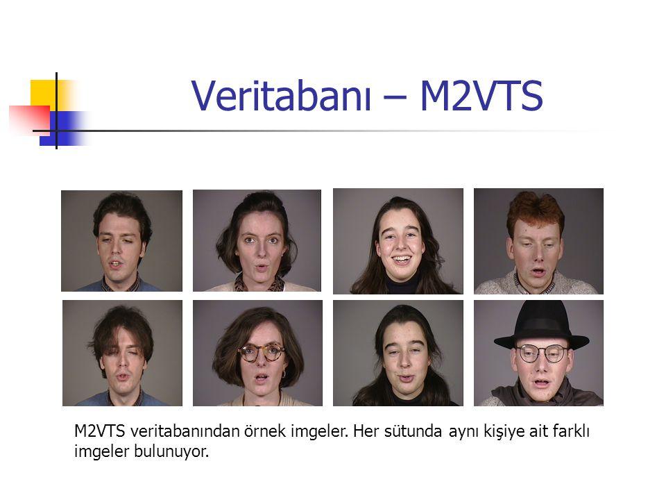 Veritabanı – M2VTS M2VTS veritabanından örnek imgeler. Her sütunda aynı kişiye ait farklı imgeler bulunuyor.