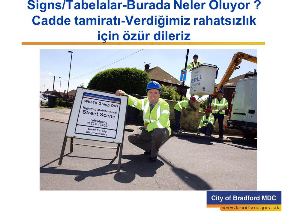 Signs/Tabelalar-Burada Neler Oluyor Cadde tamiratı-Verdiğimiz rahatsızlık için özür dileriz