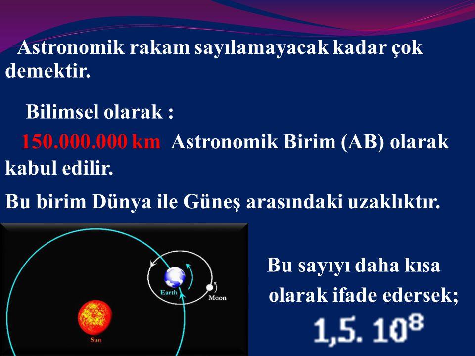 Peki nedir bu Astronomik rakam?