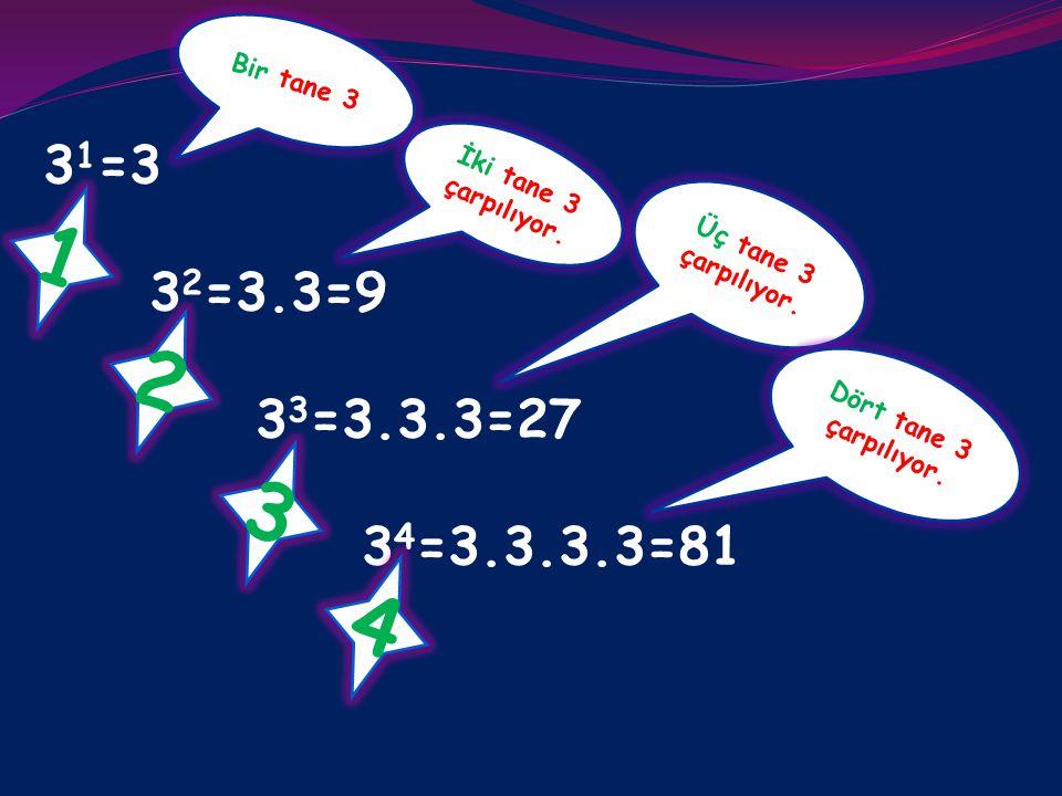 ÜSLÜ SAYILAR Üs abab Üslü sayılar genel olarak a b şeklinde gösterilir.