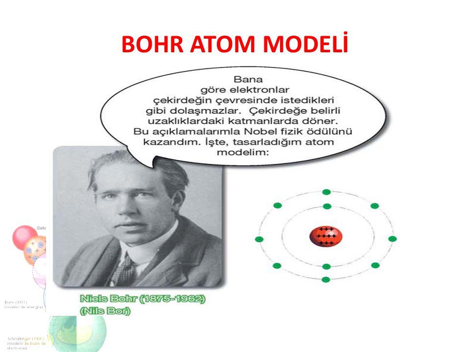 Yapılan deney sonucuna göre : Atomdaki pozitif(+) yükler çekirdek denen çok küçük bir bölgededir.