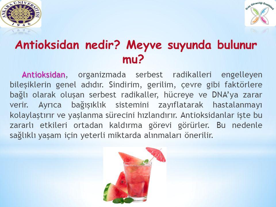 Antioksidan nedir? Meyve suyunda bulunur mu? Antioksidan Antioksidan, organizmada serbest radikalleri engelleyen bileşiklerin genel adıdır. Sindirim,