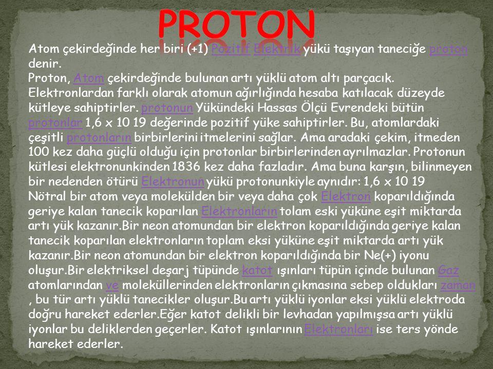Elektron veya eksicik, en küçük eksi (-) yüküne sahip temel parçacıkdır.
