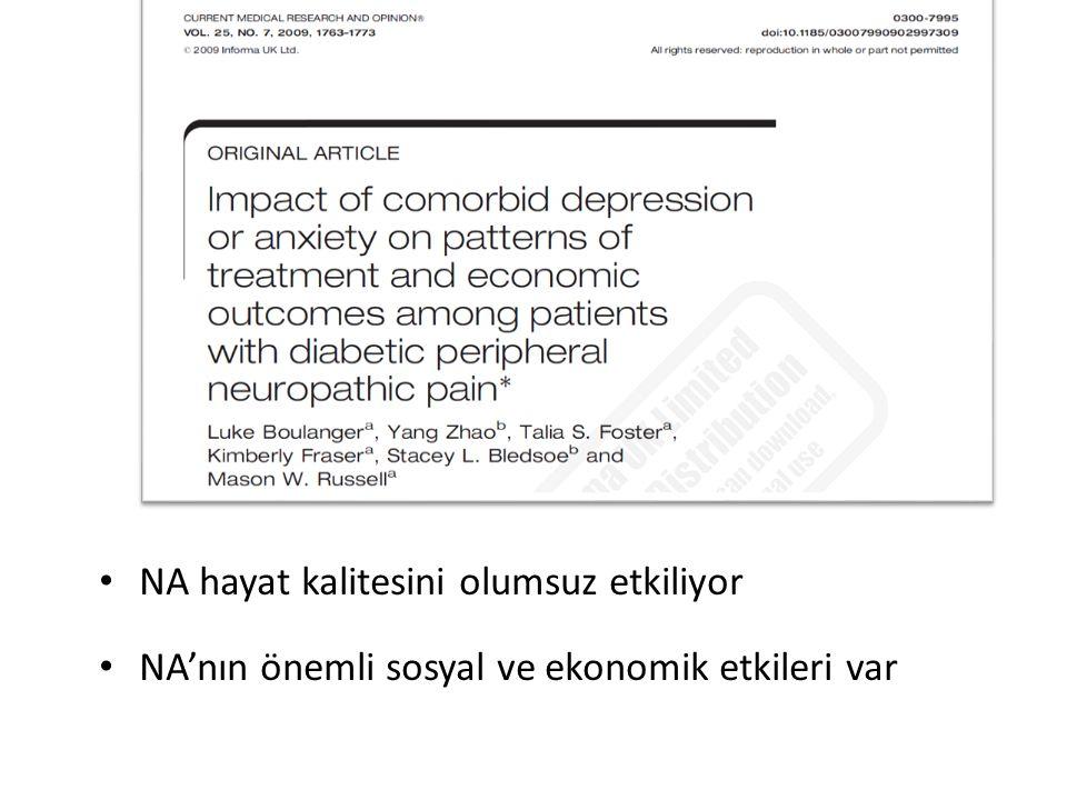 NA hayat kalitesini olumsuz etkiliyor NA'nın önemli sosyal ve ekonomik etkileri var