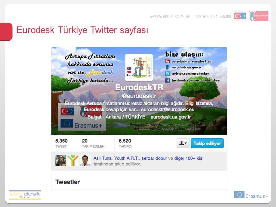 Eurodesk Türkiye Twitter sayfası