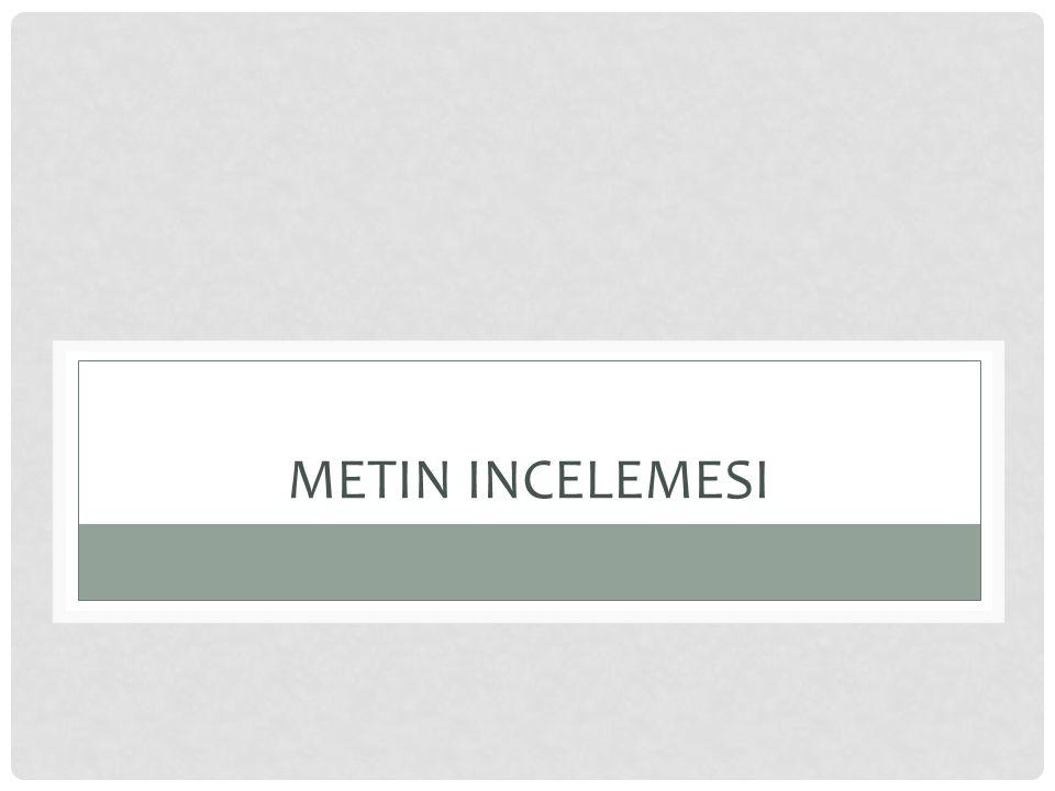 METIN INCELEMESI