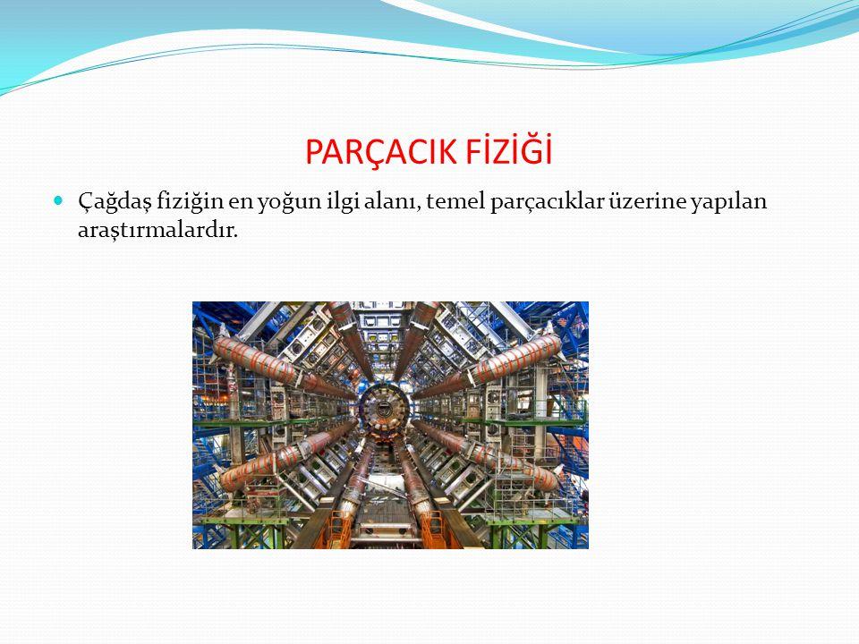 PARÇACIK FİZİĞİ Çağdaş fiziğin en yoğun ilgi alanı, temel parçacıklar üzerine yapılan araştırmalardır.