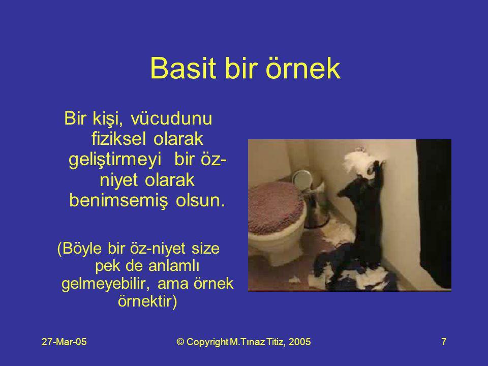 27-Mar-05© Copyright M.Tınaz Titiz, 200518 Lütfen şu 2 soruyu tekrar düşünün.
