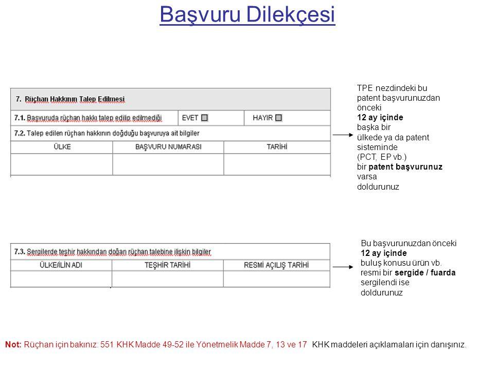 Tarifname (resim varsa) Resimlerin açıklaması (resim varsa) Referansların açıklaması Buluşun açıklanması