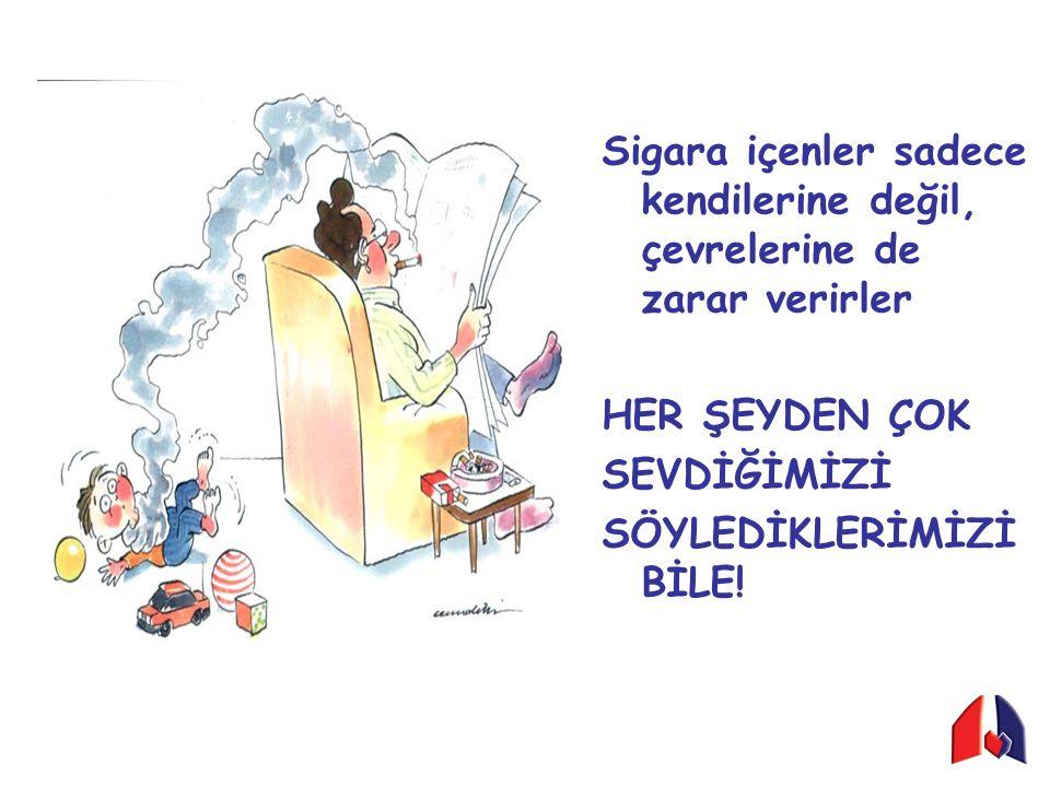 Sigara içenler sadece kendilerine değil, çevrelerine de zarar verirler HER ŞEYDEN ÇOK SEVDİĞİMİZİ SÖYLEDİKLERİMİZİ BİLE!