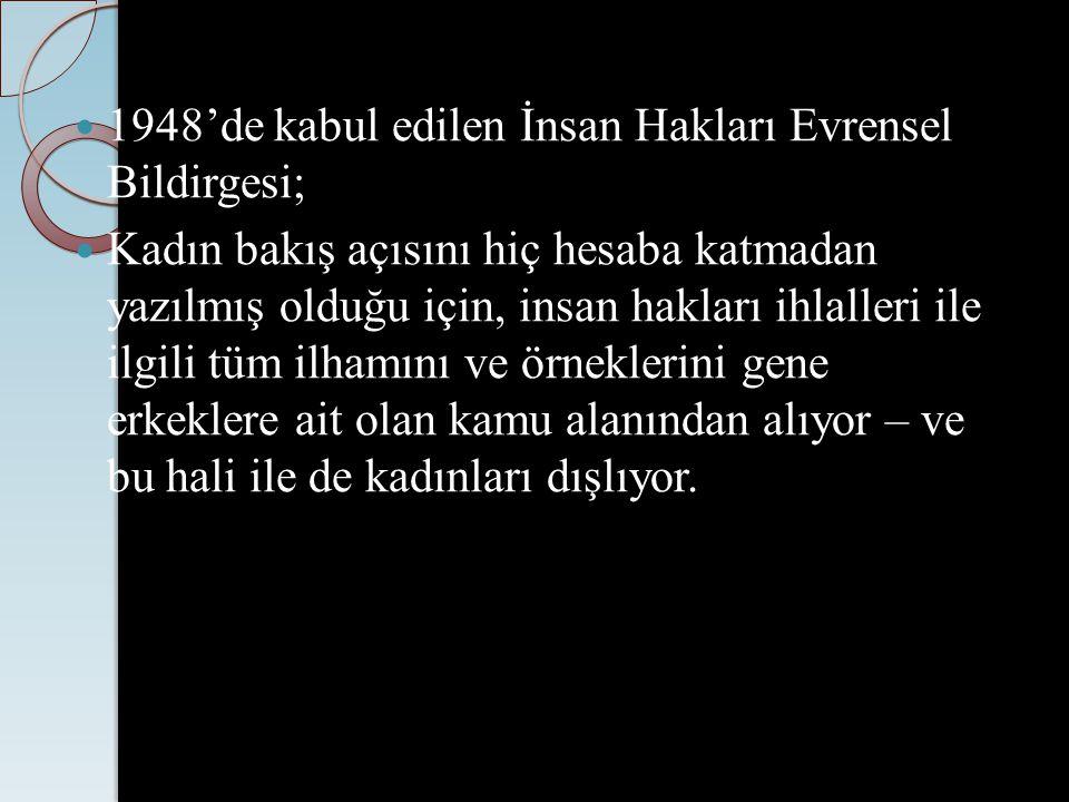 KADINA KARŞI AYRIMCILIK Özetle kadınların kadın oldukları için yaşadıkları her türlü dışlama, ayırım, sınırlama, kısıtlama kadına karşı ayrımcılıktır. Türkiye sözleşmeyi 1985 yılında imzaladı, 1986 da yürürlüğe soktu.