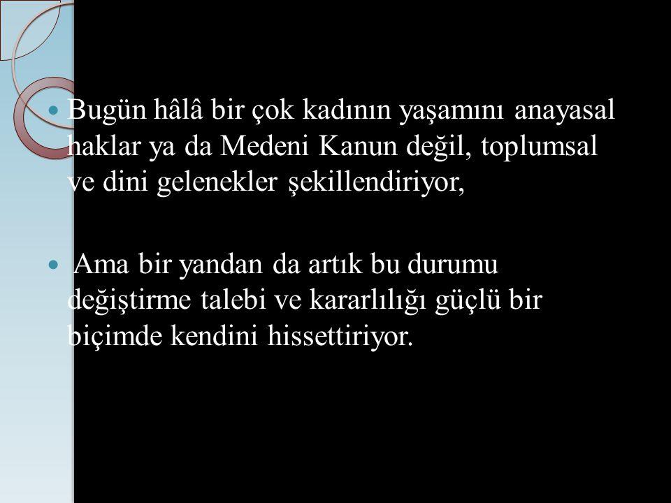 TÜRKİYE'DE KADININ İNSAN HAKLARI