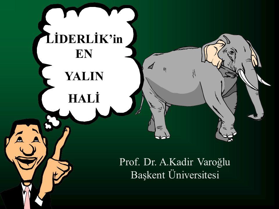 LİDERLİK'in EN YALIN HALİ Prof. Dr. A.Kadir Varoğlu Başkent Üniversitesi