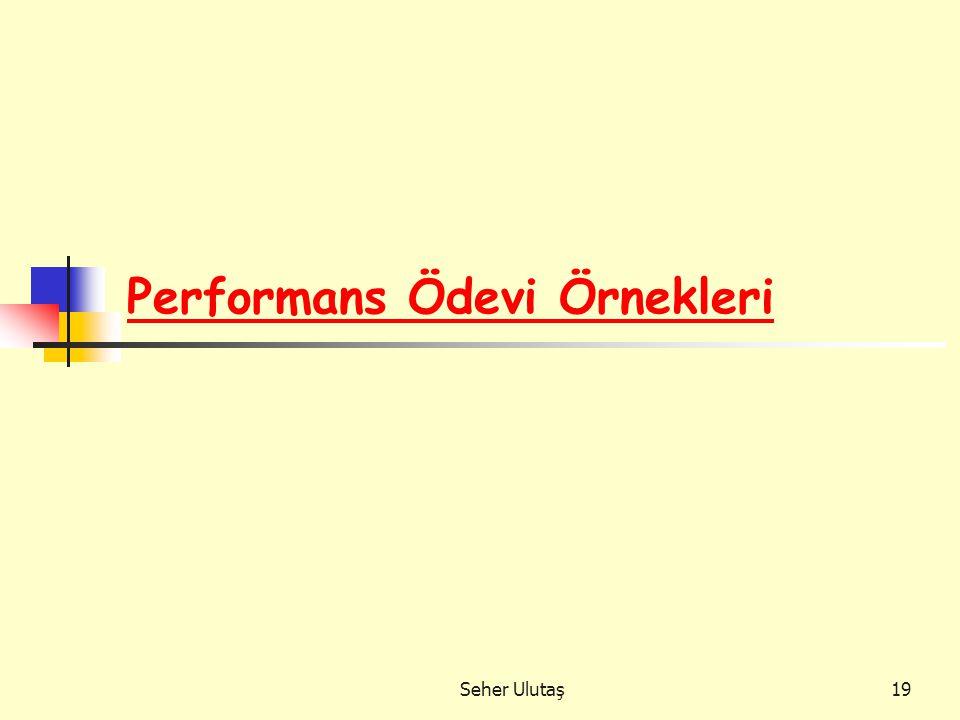 Seher Ulutaş19 Performans Ödevi Örnekleri