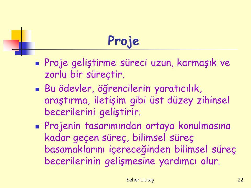Seher Ulutaş22 Proje Proje geliştirme süreci uzun, karmaşık ve zorlu bir süreçtir.