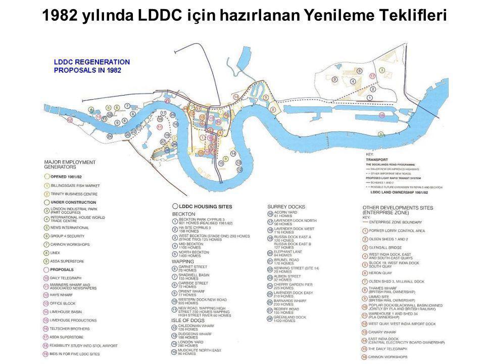 1982 yılında LDDC için hazırlanan Yenileme Teklifleri